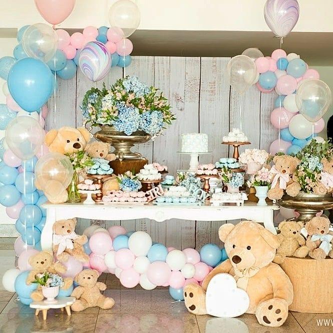 baby shower de osos de niño y niña