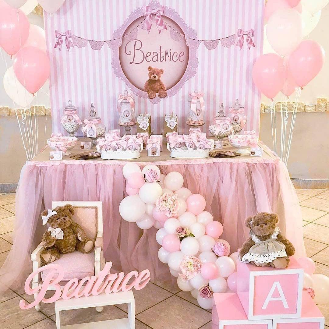 baby shower de osos para niña