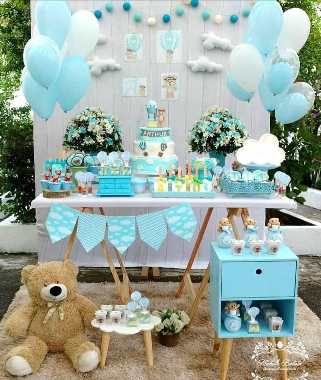 Mesa Principal De Baby Shower Nino.Ideas Para Baby Shower De Osos Ideas Para Las Fiestas
