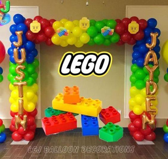 backdrops de lego para fiestas infantiles