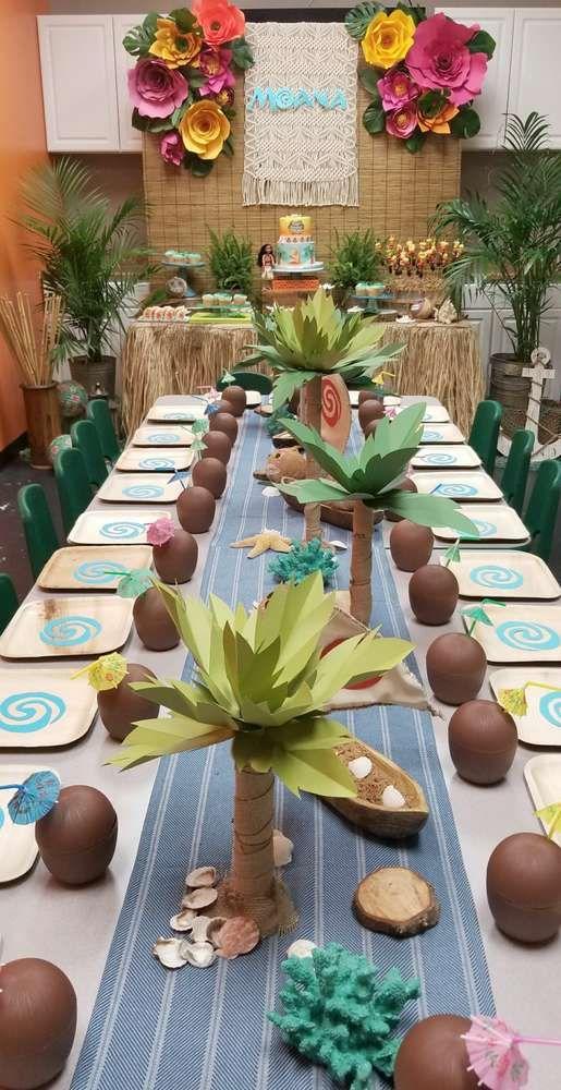 centros de mesa para fiesta hawaiana