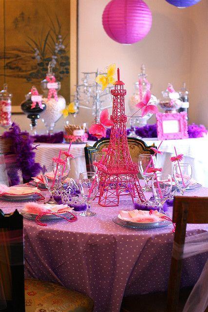 centros de mesa para fiesta tematica de fancy nancy Clancy