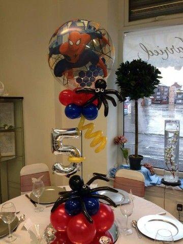 centros de mesa para fiesta tematica de spiderman