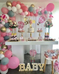 Decoracion Para Fiesta De Baby Shower.Decoracion Baby Shower Nina Elegante Ideas Para Las