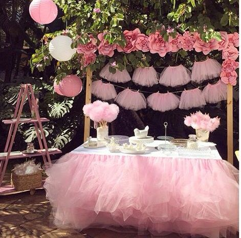 decoracion baby shower niña sencillo