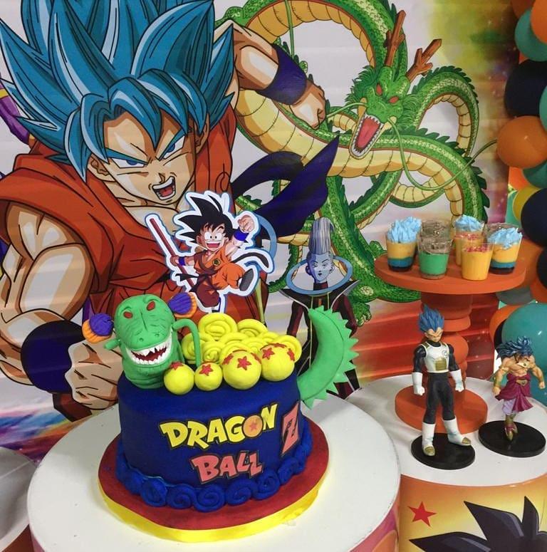 decoracion de mesa de postres dragon ball super