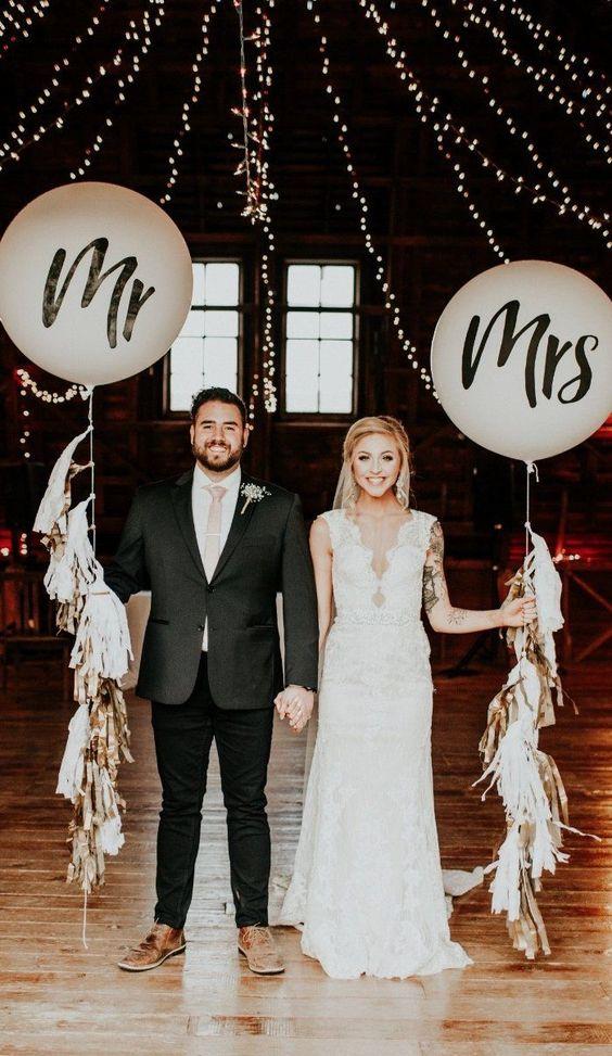 decoracion para boda civil con globos