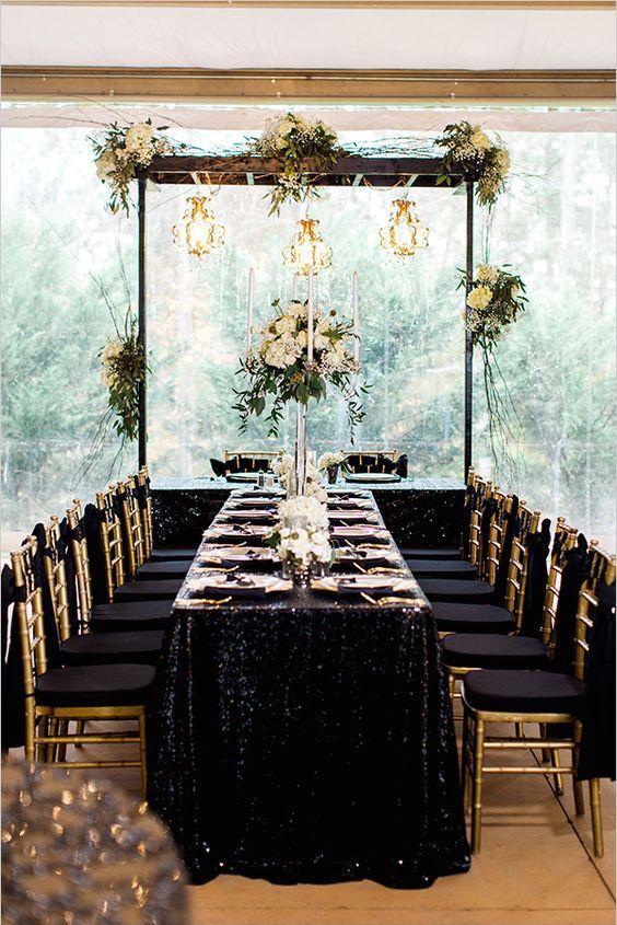 decoracion para ceremonia de boda civil moderna