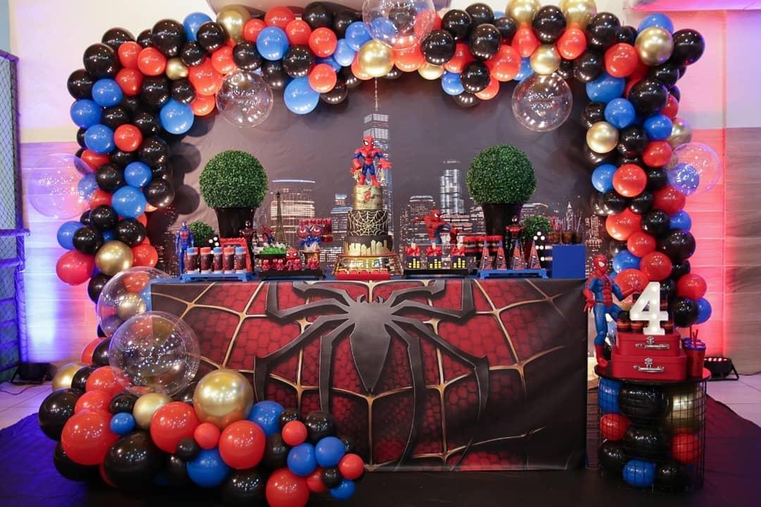 decoracion para fiesta de spiderman