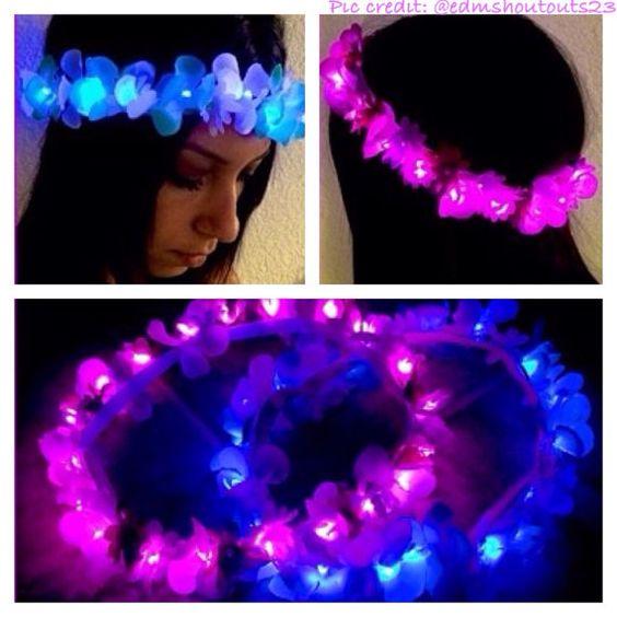 diademas led neon para fiestas