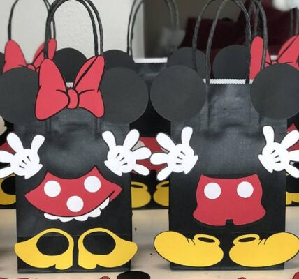dulceros economicos de mickey mouse y minnie para fiestas