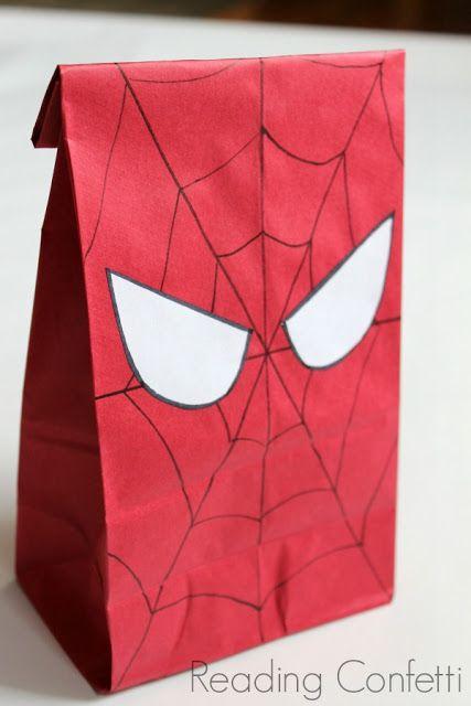 dulceros para fiesta tematica de spiderman