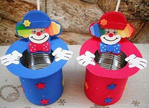 dulceros para fiestas infantiles con latas