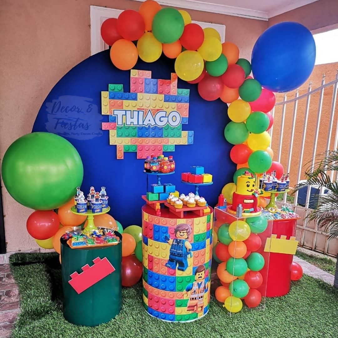 fiesta infantil de lego para niños decoracion