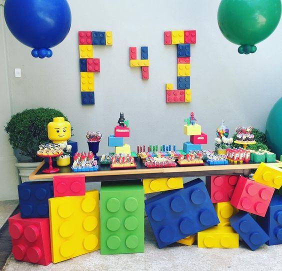 fiesta infantil de lego para niños