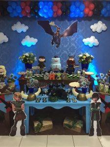 fiesta infantil tema como entrenar a tu dragon