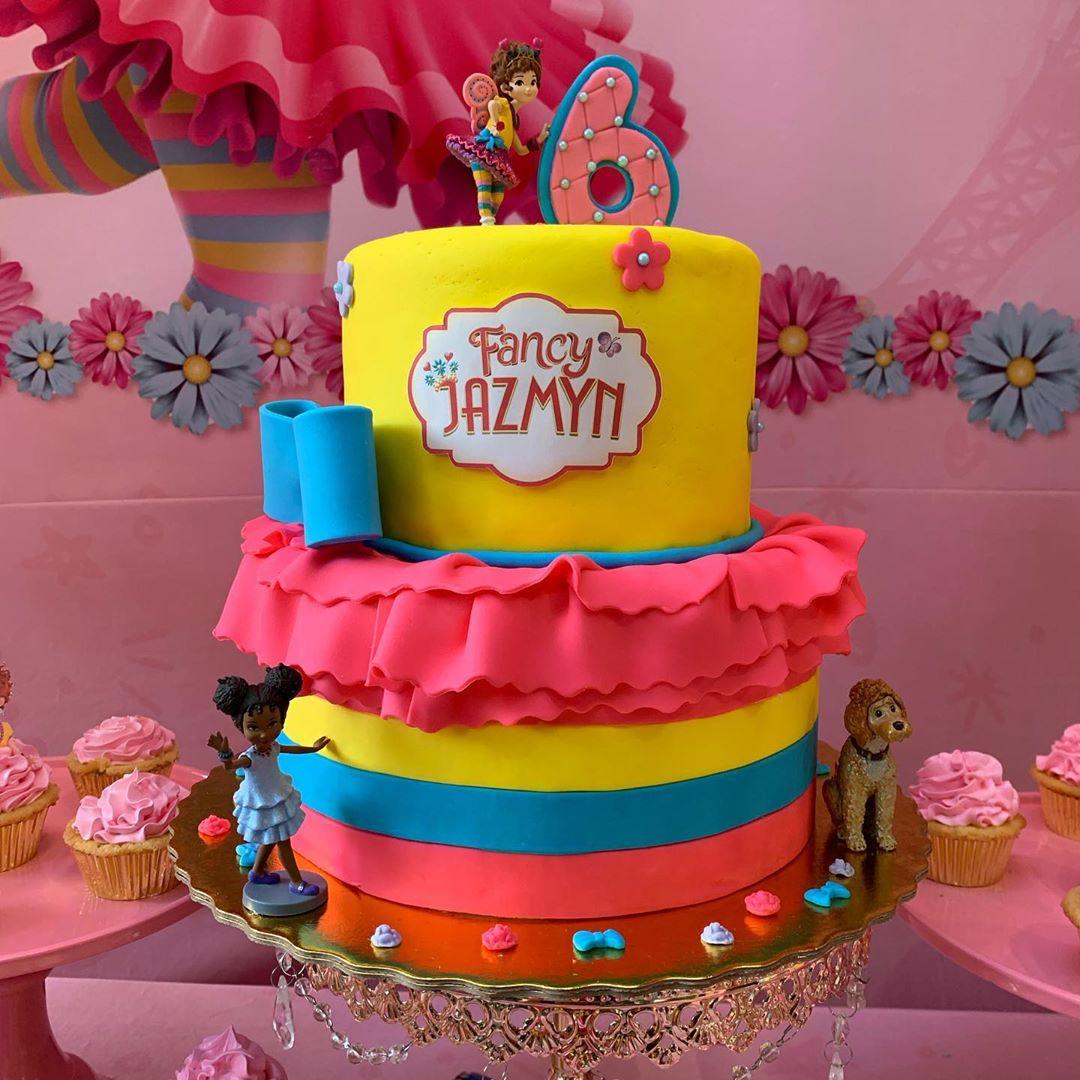 fiesta temática de fancy nancy clancy pasteles
