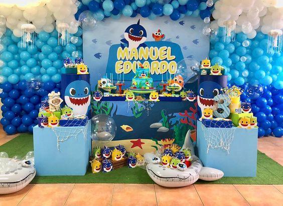 fiesta tematica de baby shark