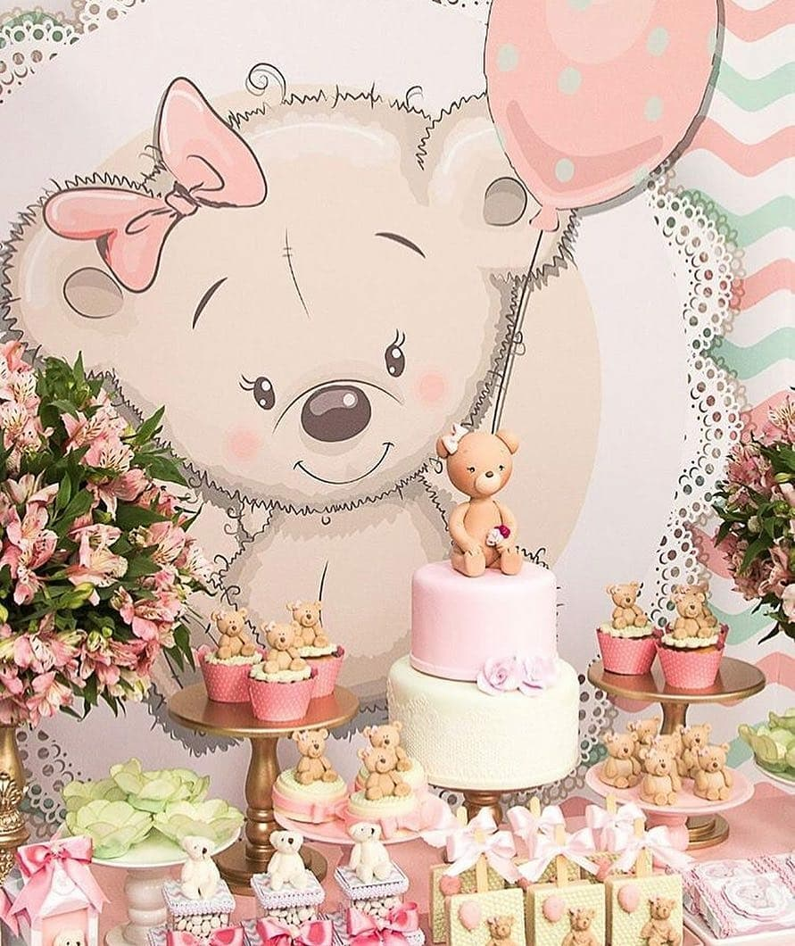 ideas para baby shower de osos