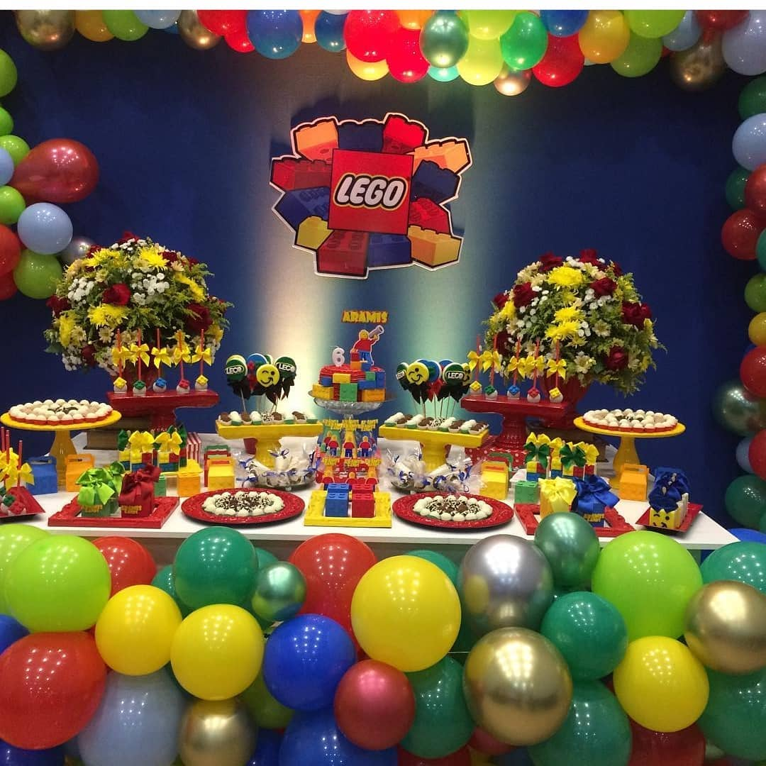 Ideas Para Decorar Fiesta Infantil De Lego Para Niños