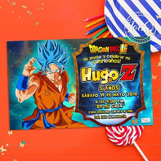 invitacion de dragon ball super broly