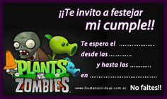 Invitaciones Para Editar Plantas Contra Zombies Ideas Para
