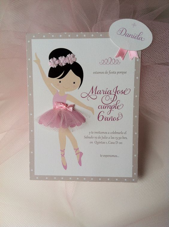 Fiesta Infantil De Bailarinas Ballet Todo Para Orgaizar