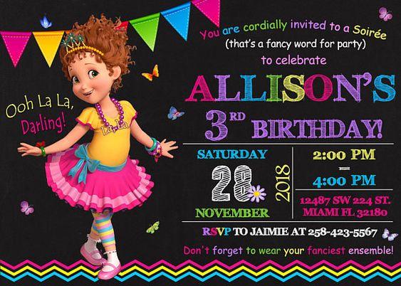 invitaciones para fiesta tematica de fancy nancy clancy