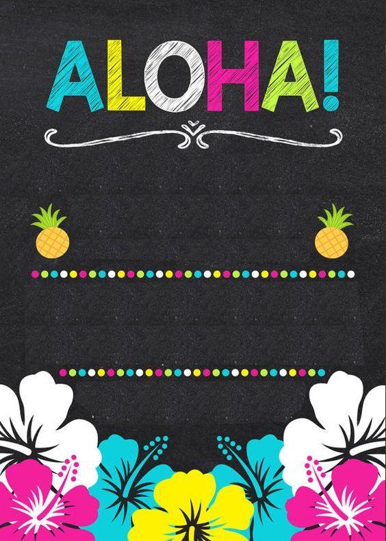 invitaciones para una fiesta hawaiana