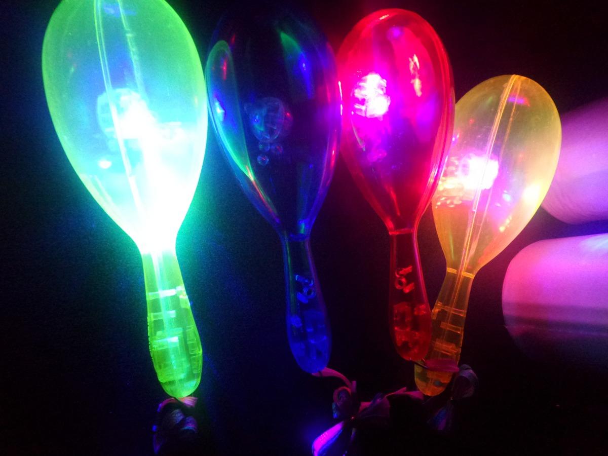 maracas led neon para fiestas