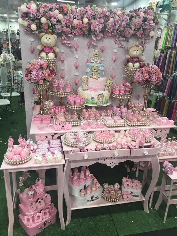 Mesas de postres para baby shower modernos tendencias 2019 for Mesa de dulces para baby shower nino