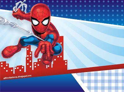 invitaciones para fiesta tematica de spiderman
