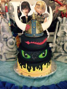 pastel de cumpleaños tema Como entrenar a tu dragon