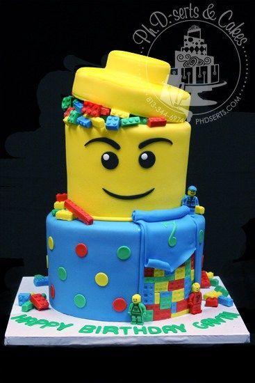 pastel de lego para niños