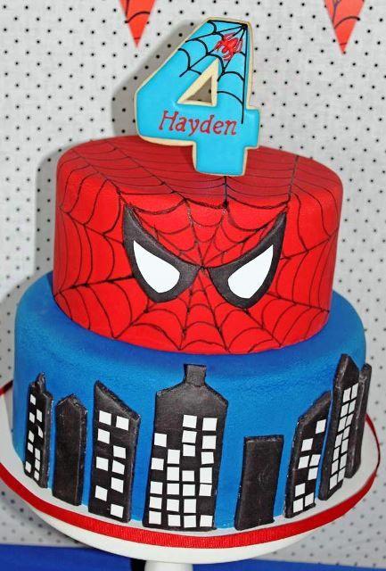 pasteles de spiderman