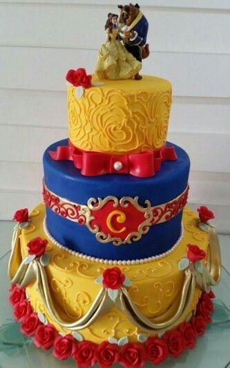 pasteles para fiesta de la bella y la bestia