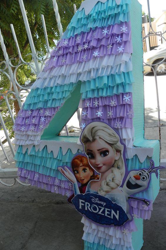 piñatas modernas para fiestas infantiles de numero para niñas