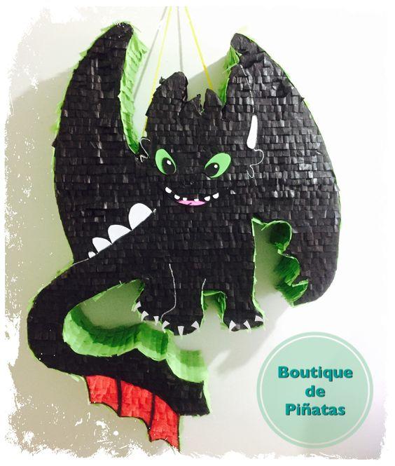 piñatas para fiesta Como entrenar a tu dragon