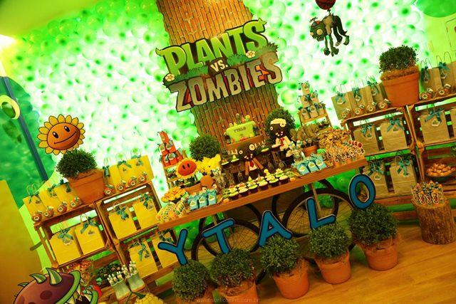 todo para fiestas de plantas contra zombies