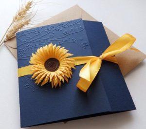 Invitaciones para 15 años con tema de girasoles