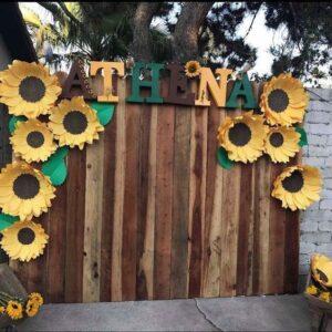 backdrops para fiesta de XV tema girasoles