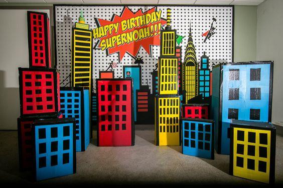 backdrops para fiesta infantil de super heroes