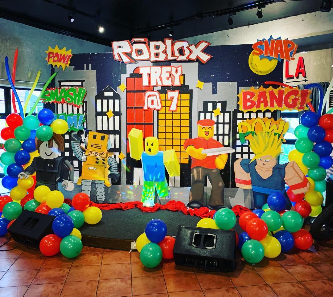 backdrops para fiesta tematica de roblox para niños