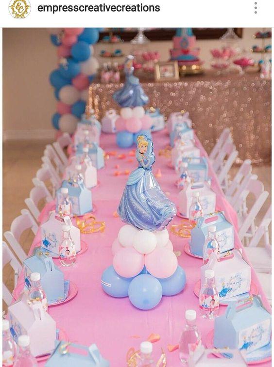 centros de mesa para fiesta de cenicienta