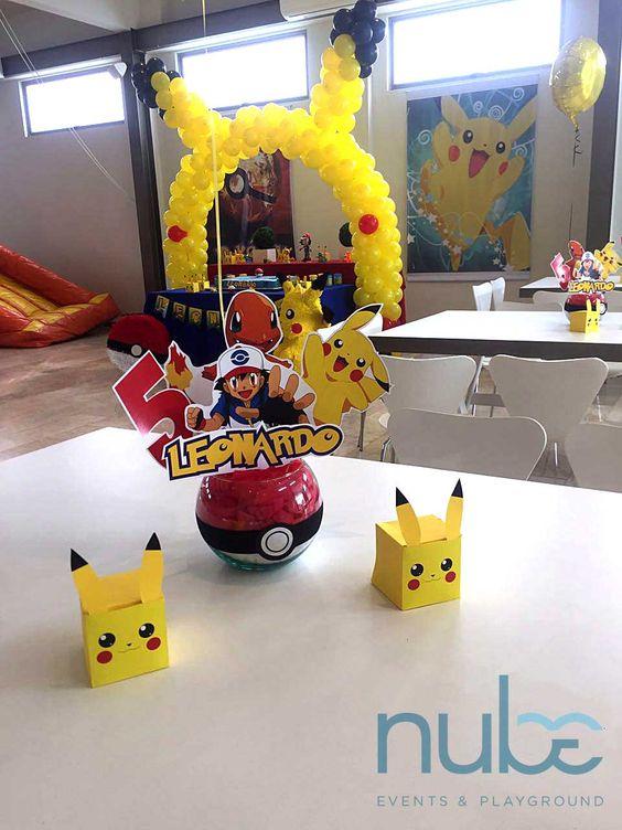 centros de mesa para fiesta tematica de pokemon