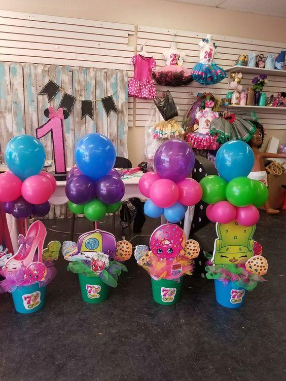 centros de mesa para fiesta tematica de shopkins