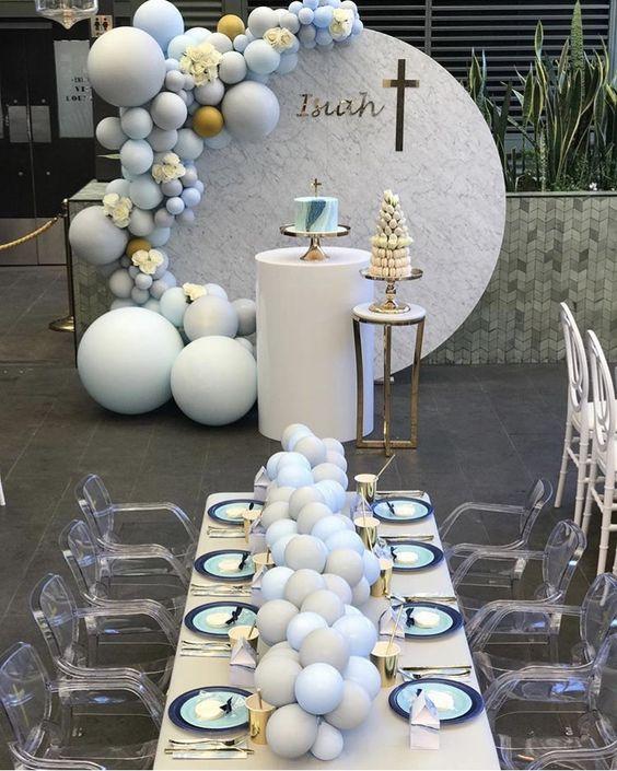 colores para decoracion de bautizos para niños y niñas 2019
