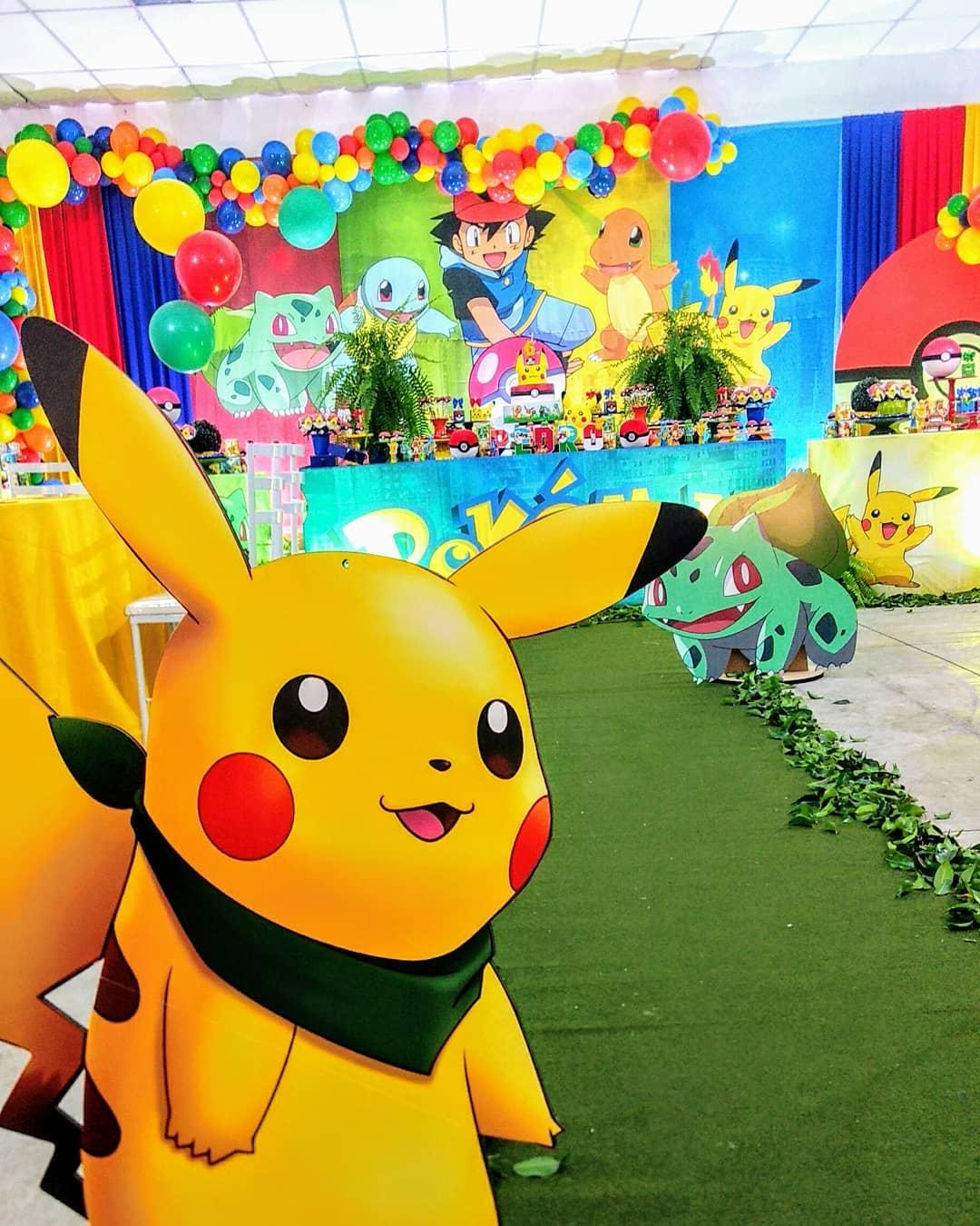 como decorar fiesta temática de pokemon
