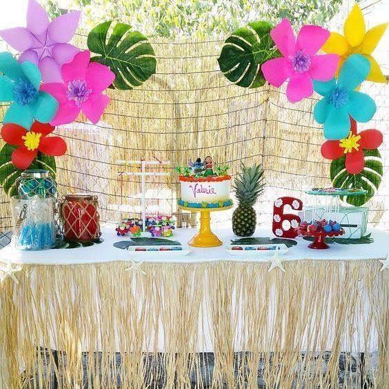 como decorar una fiesta hawaina