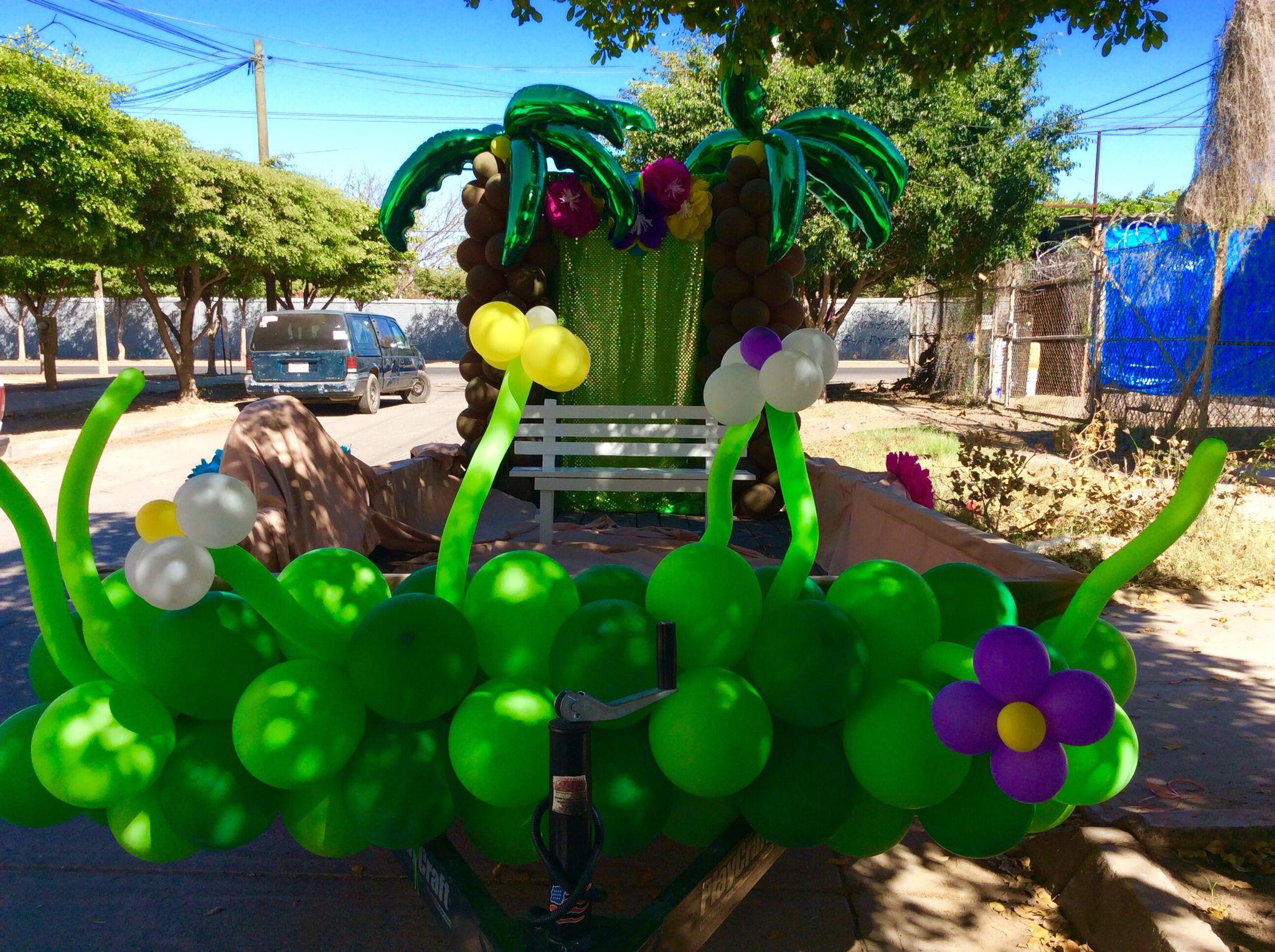 Como hacer carros alegóricos para niños día de la primavera con globos